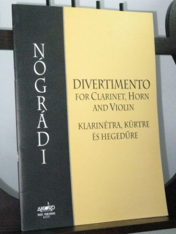 Nogradi P - Divertimento for Clarinet, Horn and Violin